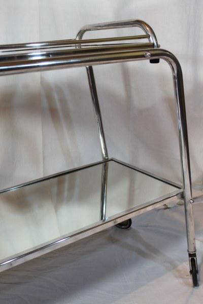 art deco servierwagen teewagen mit spiegeltablett ebay. Black Bedroom Furniture Sets. Home Design Ideas
