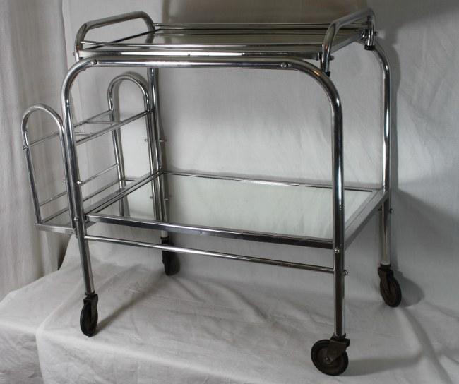 art deco servierwagen teewagen barwagen abnehmbares. Black Bedroom Furniture Sets. Home Design Ideas