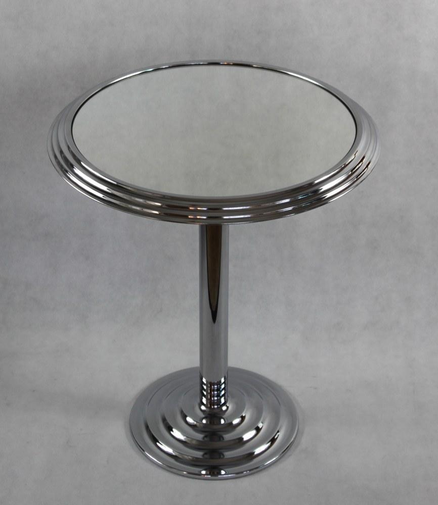 beistelltisch chrom tisch modernist table im art deco stil ebay. Black Bedroom Furniture Sets. Home Design Ideas