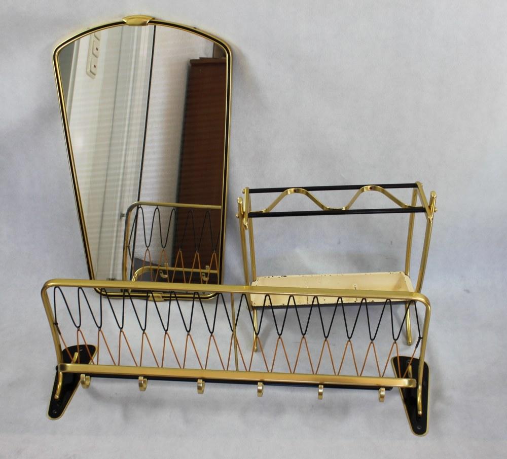 50er jahre garderobe set mid century 3tlig wandgarderobe for Wandgarderobe set